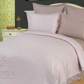 «Silver Grey» двуспальное + евро постельное белье, Бамбук, Goldtex