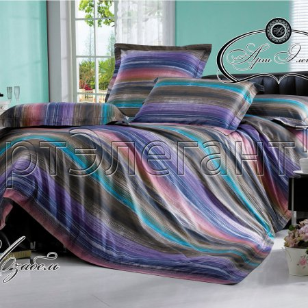 Постельное белье «Изабель №2» двуспальное с европростыней, Макосатин, Арт Дизайн