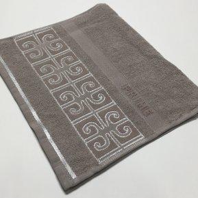 Банное полотенце «Бежевый Prime 70х130», АльВиТек