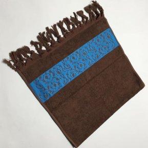 Банное полотенце «Коричневый Classik 70х130», АльВиТек