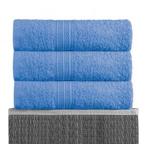 Банное полотенце «Голубой 70х140», АльВиТек