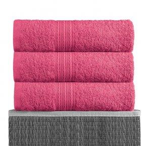 Пляжное полотенце «Малиновый 100х180», АльВиТек