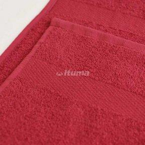 Полотенце бордовое 50х90 махровое