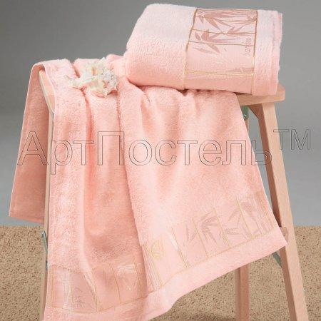 Набор полотенец (персиковый) бамбук, Арт Дизайн