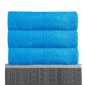 Простыня махровая 180*210 светло-голубая, АльВиТек