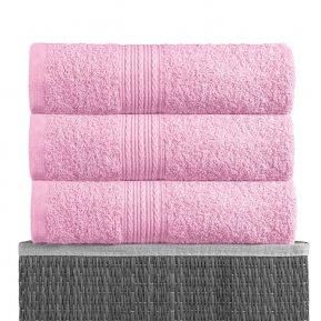 Простыня махровая 180*210 розовая, АльВиТек