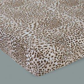 """Простыня на резинке трикотаж """"Леопард"""" 90*200, Арт Дизайн"""