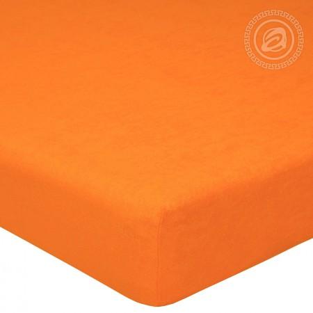 """Простыня на резинке махра """"Апельсин"""" 120х200, Арт Дизайн"""