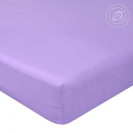 Простыня на резинке поплин «Византия фиолетовая», 140х200х20, Арт Дизайн