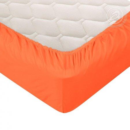 "Простыня на резинке сатин ""Оранжевая"" 140х200, Арт Дизайн"