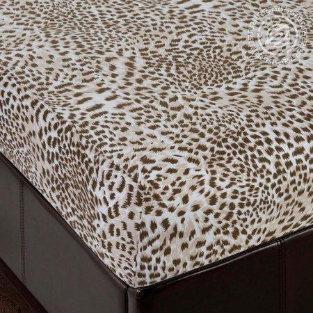 "Простыня на резинке трикотаж ""Леопард"" 140х200х20, Арт Дизайн"