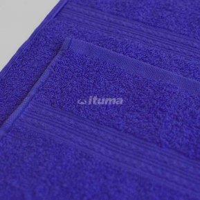 Простыня темно-синяя 180х210 махровая