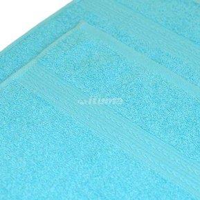 Простыня светло-голубая 180х210 махровая