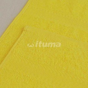 Простыня лимонная 180х210 махровая