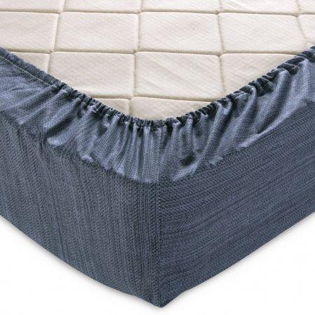 Простыня на резинке перкаль «Эко 7 графит» 140х200х25, Текс-Дизайн