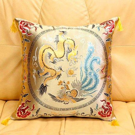 Декоративная наволочка «7008-02» 45х45 Искусственный шелк, TANGO