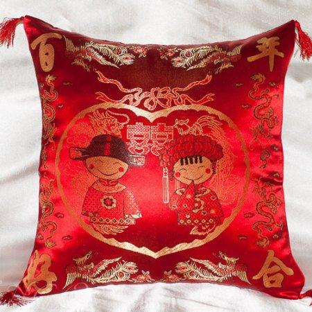 Декоративная наволочка «7008-18» 45х45 (1шт.) Искусственный шелк, TANGO