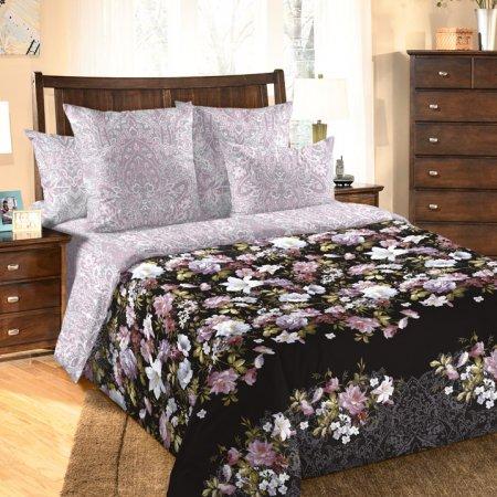 «Бриджит 3 черн» двуспальное с европростыней постельное белье, Перкаль, Текс-Дизайн