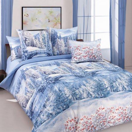 Постельное белье «Зима 1» 1,5 - спальное, Перкаль, Текс-Дизайн