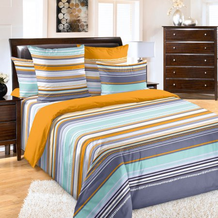 Постельное белье «Дакота 1 оранж» 1,5 - спальное, Перкаль, Текс-Дизайн