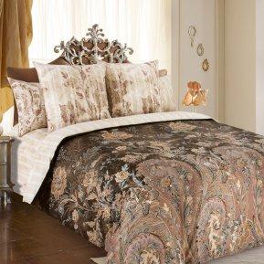 «Музей 6 беж.» двуспальное с европростыней постельное белье, Перкаль, Текс-Дизайн