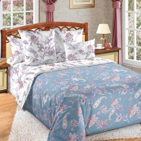 «Виавель» двуспальное с европростыней постельное белье, Перкаль, Текс-Дизайн