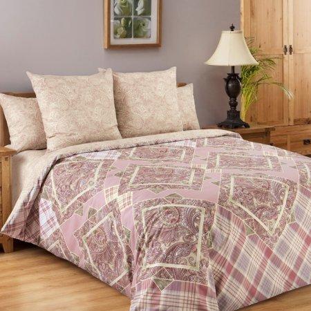 Постельное белье «Итальянка 1 роз.» двуспальное с европростыней, Перкаль, Текс-Дизайн