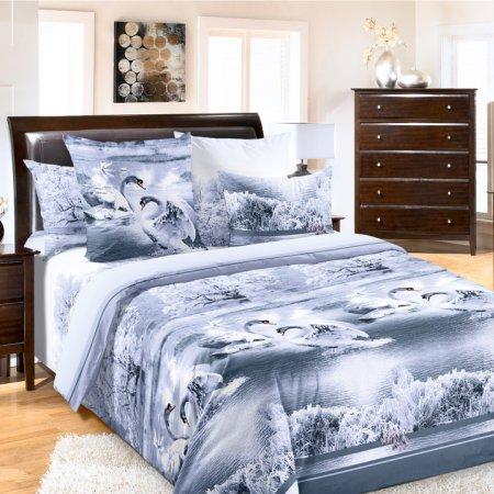 Постельное белье «Лебединое озеро 5 сер.» двуспальное с европростыней, Перкаль, Текс-Дизайн