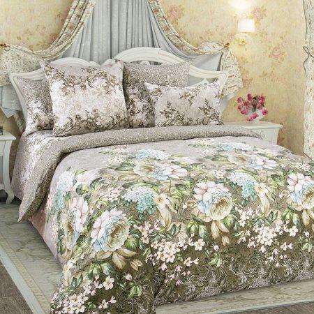 Постельное белье «Анна 1 зел.» 1,5 - спальное, Перкаль, Текс-Дизайн
