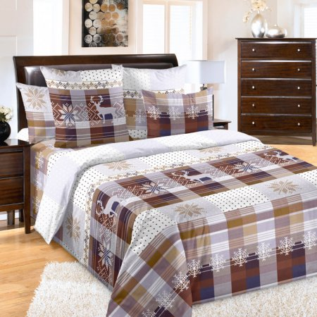 «Норвегия 2 коричн.» семейное постельное белье, Перкаль, Текс-Дизайн