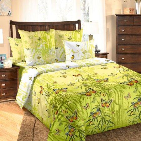 Постельное белье «Гармония 1 зел.» двуспальное с европростыней, Перкаль, Текс-Дизайн