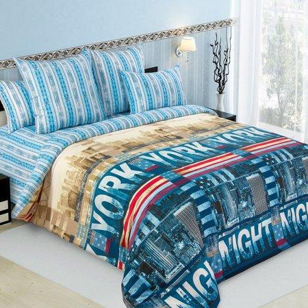 Постельное белье «Мегаполис» двуспальное с европростыней, Перкаль, Текс-Дизайн