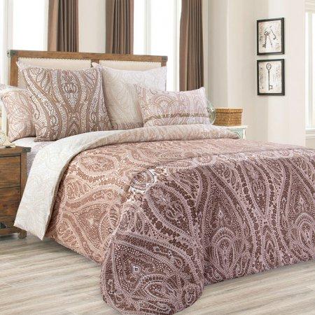 Постельное белье «Силуэт» двуспальное с европростыней, Перкаль, Текс-Дизайн