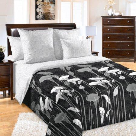 «Лунный свет 1 черн» двуспальное с европростыней постельное белье, Перкаль, Текс-Дизайн