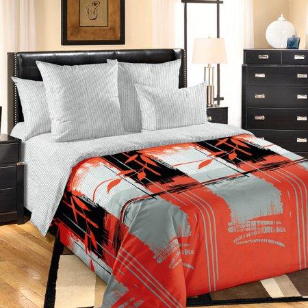 «Хокку 1 красн.» 1,5 - спальное постельное белье, Перкаль, Текс-Дизайн