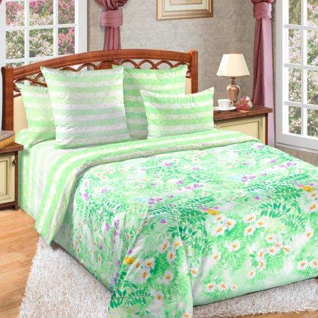 «Июнь 2 зел» двуспальное постельное белье, Перкаль, Текс-Дизайн