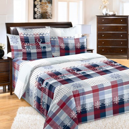 «Норвегия 1 красн» 1,5 - спальное постельное белье, Перкаль, Текс-Дизайн