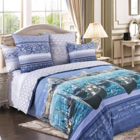 «Венеция 3 фиол.» двуспальное постельное белье, Перкаль, Текс-Дизайн