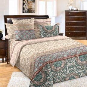 «Визаж 1 зел.» 1,5 - спальное постельное белье, Перкаль, Текс-Дизайн