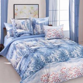 «Зима 1» двуспальное с европростыней постельное белье, Перкаль, Текс-Дизайн