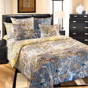 «Изыск 1 беж.» двуспальное с европростыней постельное белье, Перкаль, Текс-Дизайн