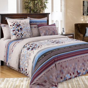 «Моцарт 3 кор.» двуспальное с европростыней постельное белье, Перкаль, Текс-Дизайн