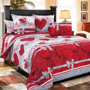«Комплимент» двуспальное с европростыней постельное белье, Перкаль, Текс-Дизайн