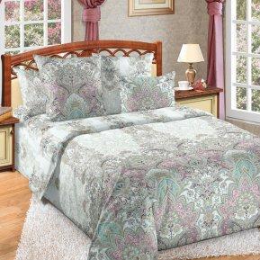 «Великолепие 3 зел.» двуспальное с европростыней постельное белье, Перкаль, Текс-Дизайн