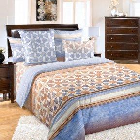 «Индиго 1 гол.» двуспальное с европростыней постельное белье, Перкаль, Текс-Дизайн