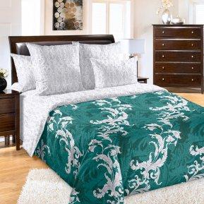 «Эрик 3 изумр» двуспальное с европростыней постельное белье, Перкаль, Текс-Дизайн