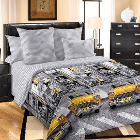 «Такси» двуспальное с европростыней постельное белье, Перкаль, Текс-Дизайн