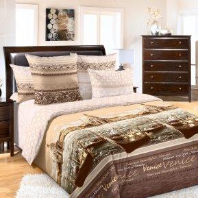 «Венеция 2 кор.» двуспальное с европростыней постельное белье, Перкаль, Текс-Дизайн