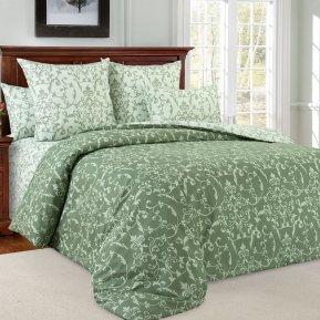 «Вирджиния 6 зел» двуспальное с европростыней постельное белье, Перкаль, Текс-Дизайн