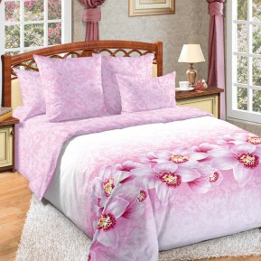 «Аромат орхидей» двуспальное с европростыней постельное белье, Перкаль, Текс-Дизайн